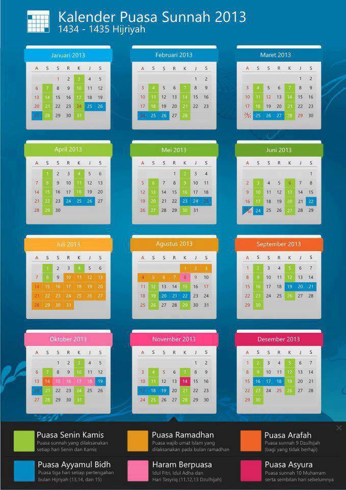 Kalender Puasa Sunnah | New Calendar Template Site